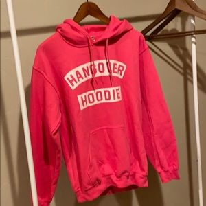 Hot pink Hangover Hoodie Size Small